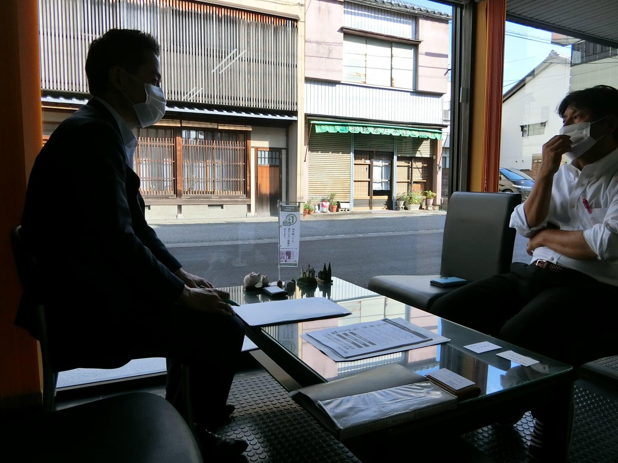 南越前町、越前市の中小企業訪問
