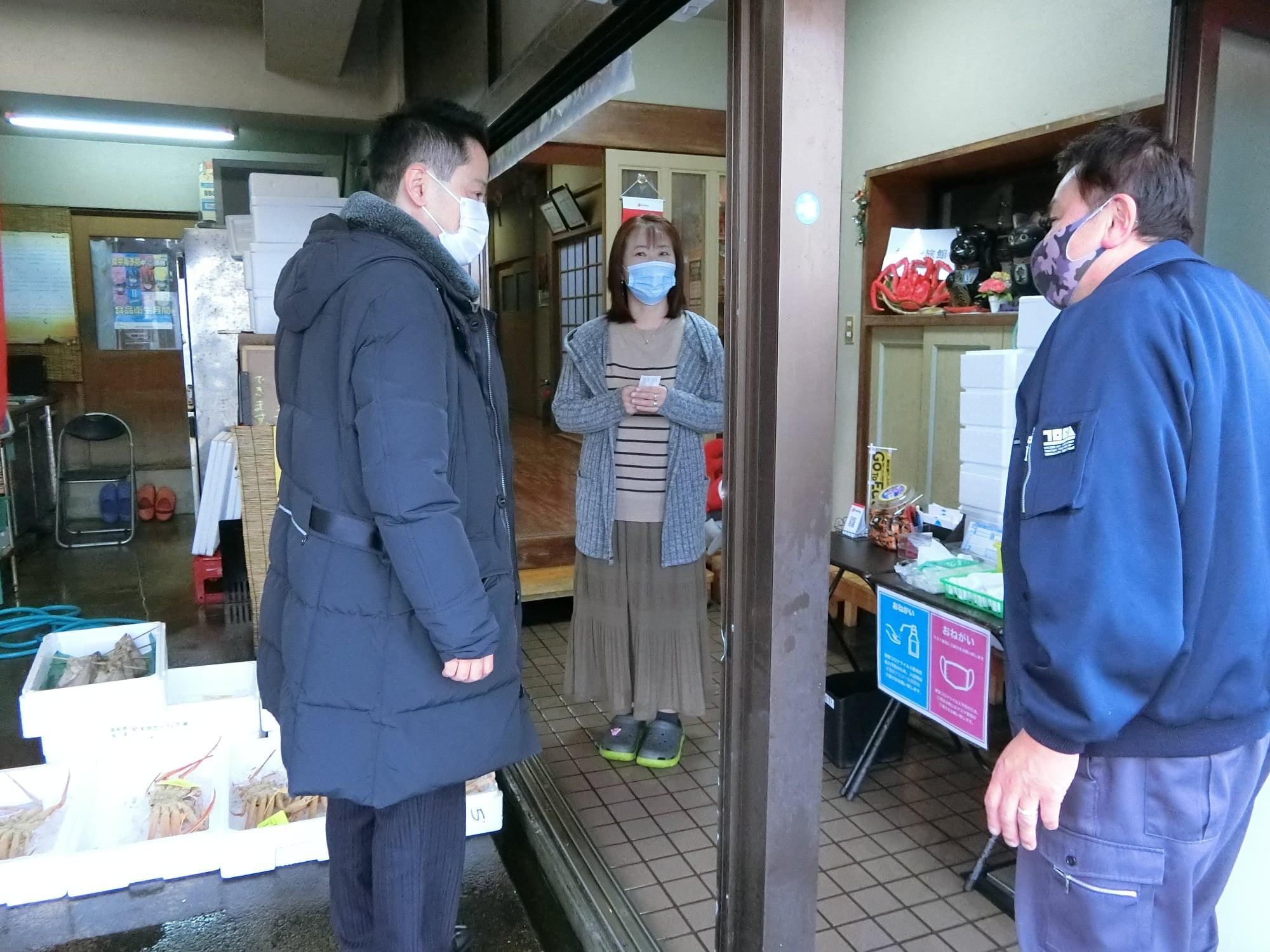 料理民宿を訪ね、Gotoに代わる施策を協議