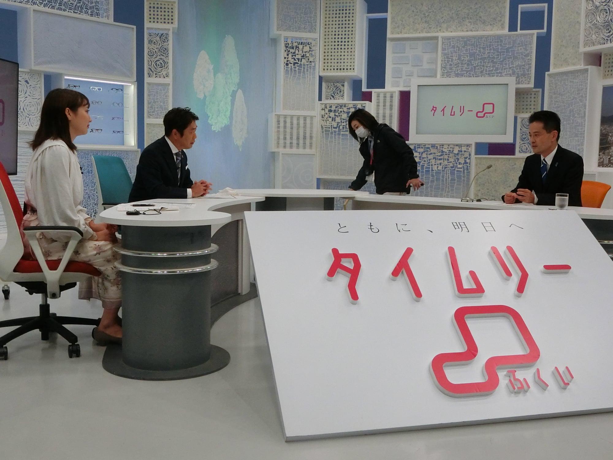 タイムリー福井生放送の後、政見放送の収録、鯖江市越前市を訪問。